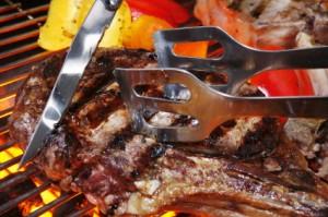 BBQ JBpartyservice vlees op de bbq