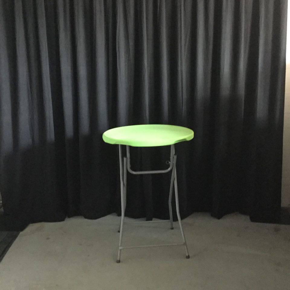 Statafel met top groen